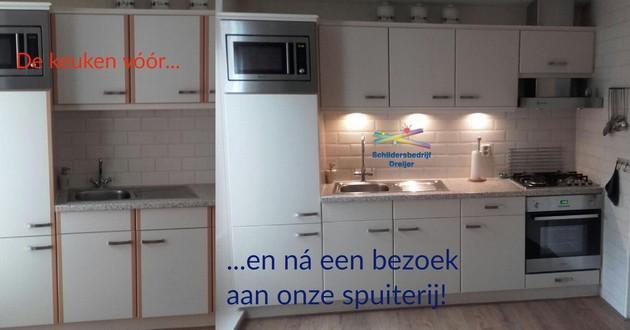 Keukenkastdeurtjes weer als nieuw - Schildersbedrijf Dreijer Beerta