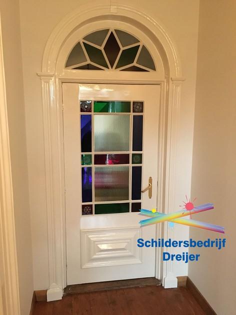 Deur + kozijn geschilderd en hersteld - Schildersbedrijf Dreijer Beerta