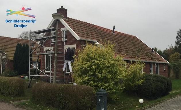 Kozijnrenovatie en nieuwe daklijsten - Schildersbedrijf Dreijer Beerta