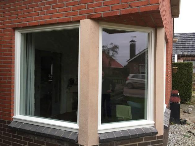 Nieuwe kozijnen gemaakt en geplaatst met HR++ glas - Schildersbedrijf Dreijer Beerta