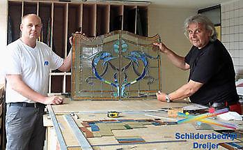 Unieke uitstraling met glas-in-lood Schildersbedrijf Dreijer Beerta