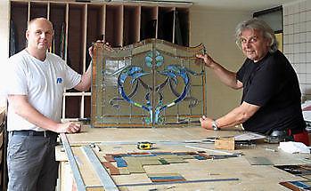Ambachtelijk glas in lood Schildersbedrijf Dreijer Beerta